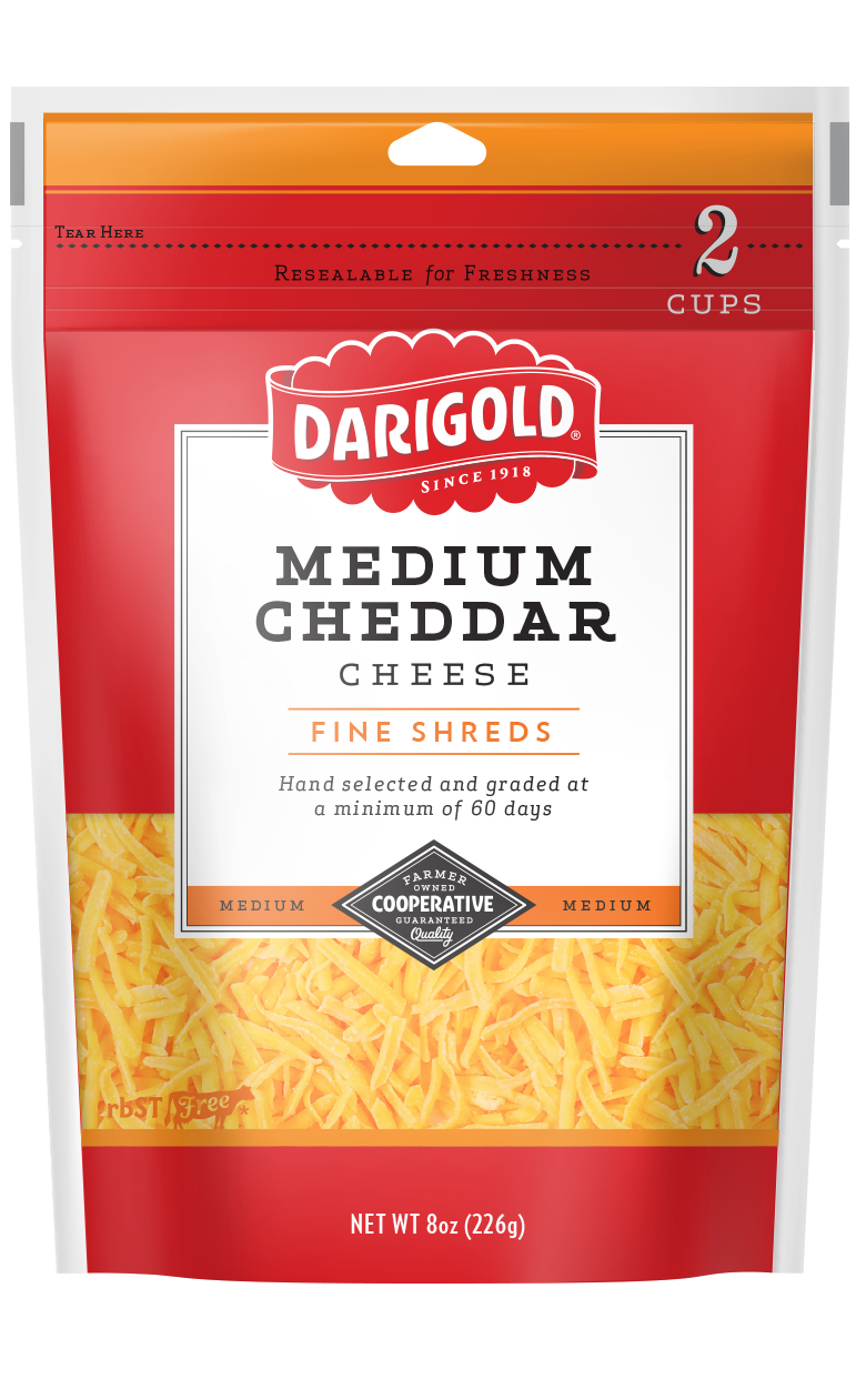 Medium White Cheddar Cheese - Shredded