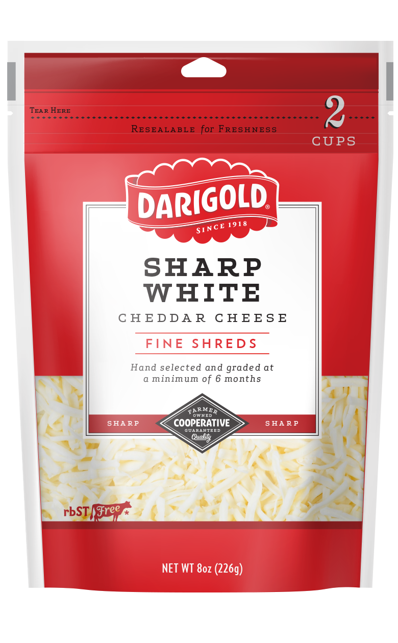 Sharp White Cheddar Cheese - Shredded
