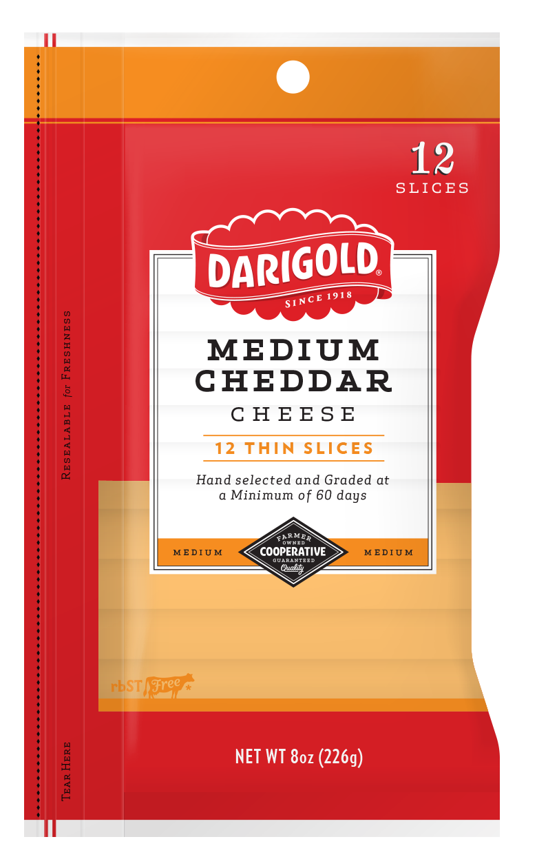 Medium White Cheddar Cheese - Sliced