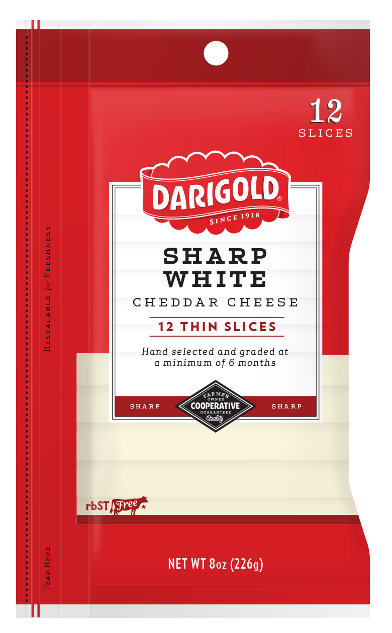 Sharp White Cheddar Cheese - Sliced