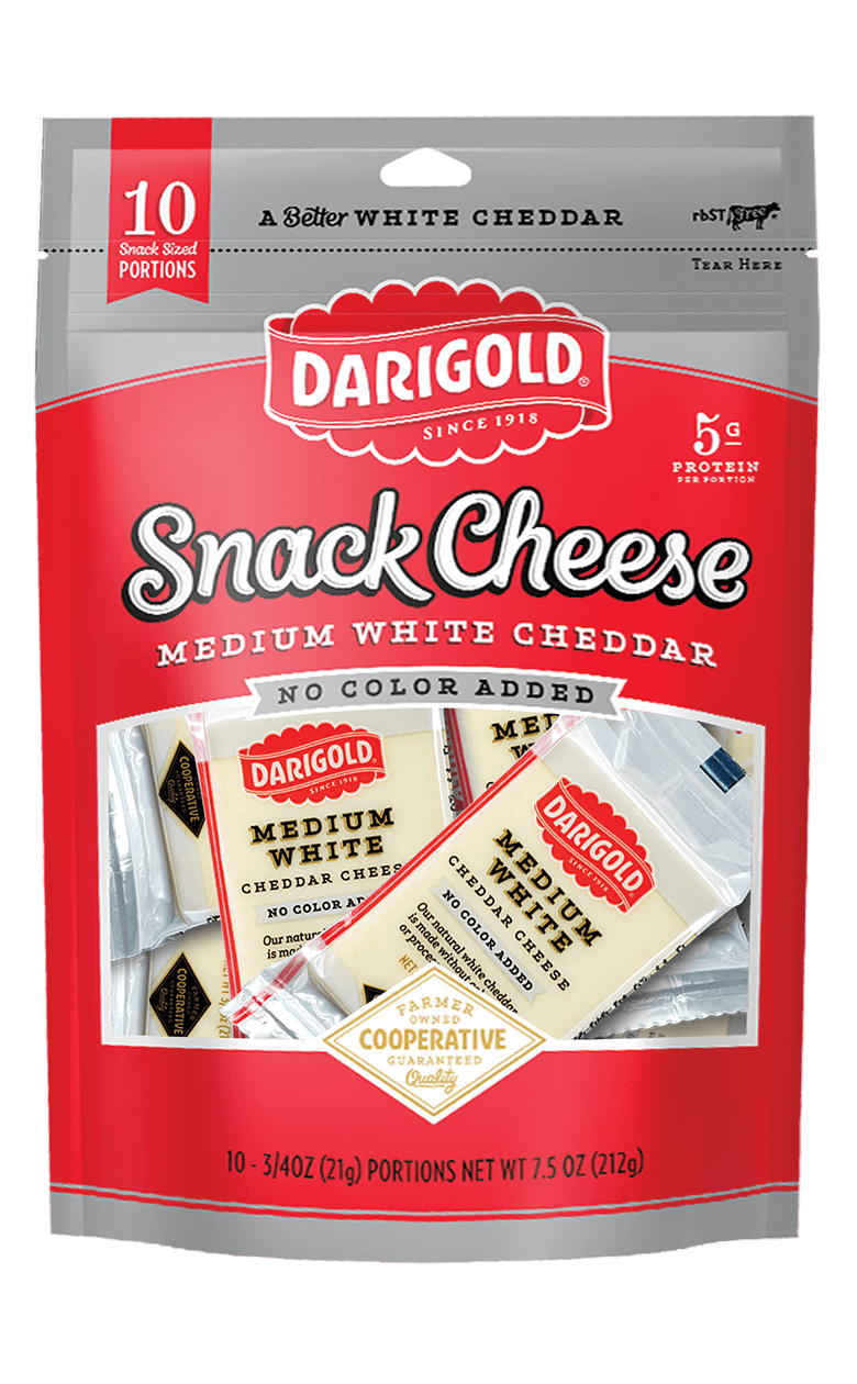 Medium White Cheddar Cheese - Snack