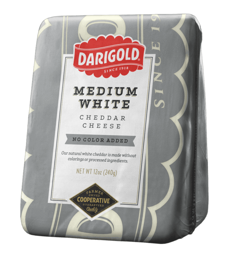 Medium White Cheddar Cheese - Wedge