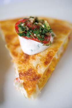 dungeness-quesadillas-charred-tomato-salsa-buttermilk-dresssing