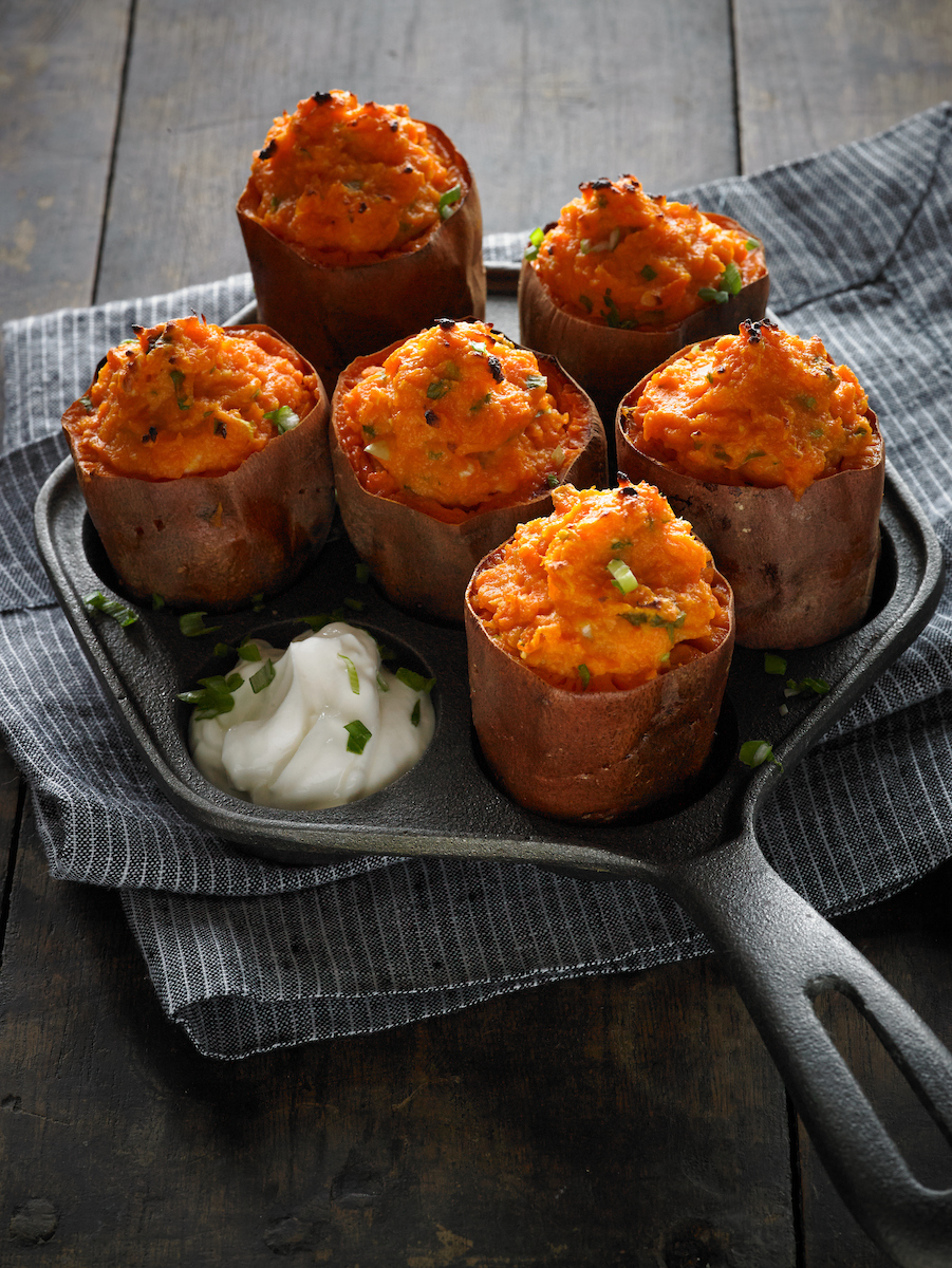 baked-sweet-potatoes-with-sour-cream-and-ginger